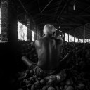 Worker, coconut factory, Negombo